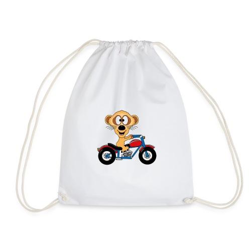 Erdmännchen - Motorrad - Biker - Kind - Baby - Turnbeutel
