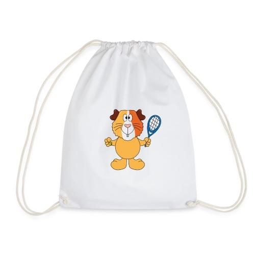 Meerschweinchen - Tennis - Sport - Tier - Kinder - Turnbeutel