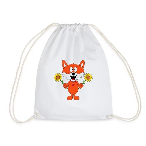 Fuchs - Sonnenblumen - Kinder - Tier - Baby - Turnbeutel
