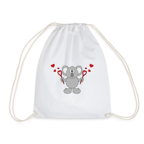 Koala - Bär - Seifenblasen - Herzen - Liebe - Love - Turnbeutel
