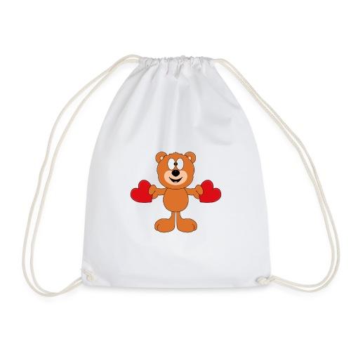 Teddy - Bär - Herzen - Liebe - Love - Tier - Turnbeutel