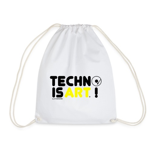 Techno is Art by 69 Starfighter Black Yellow - Gymtas