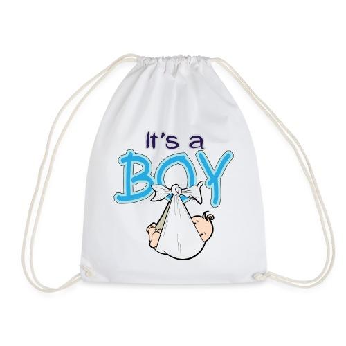 Babyshower Boy Blauw - Gymtas