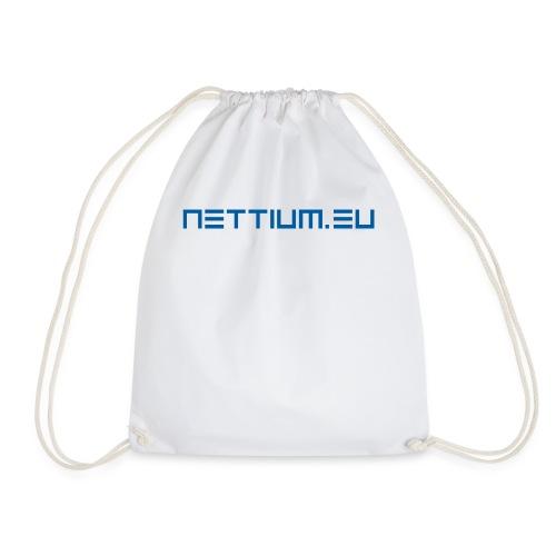 Nettium.eu logo blue - Drawstring Bag