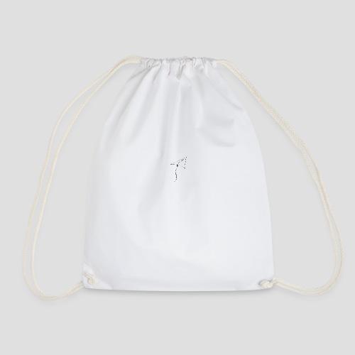 paper airplane Black - Drawstring Bag