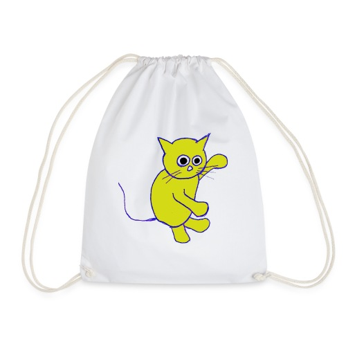 Hugo Puddlebucket Meow the cat - Drawstring Bag