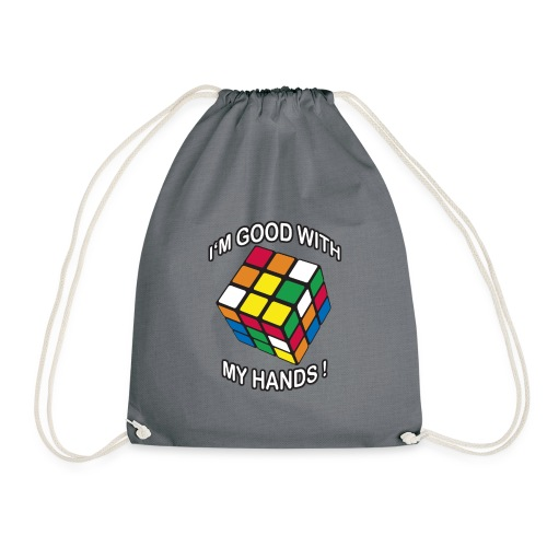 Rubik's Cube Quotes I'm Good With My Hands - Gymnastikpåse