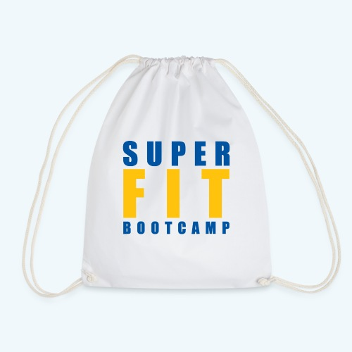 White Products inc Yellow & Blue Superfit LOGO - Drawstring Bag
