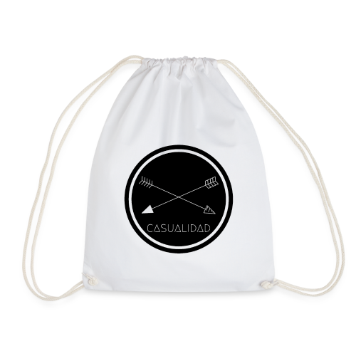 CASUALIDAD circular black logo - Sacca sportiva