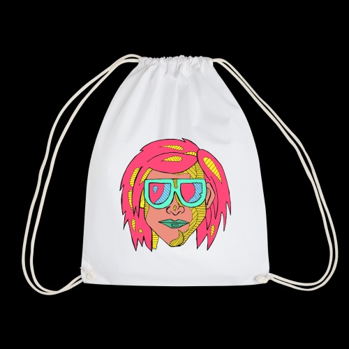 Man pink - Drawstring Bag