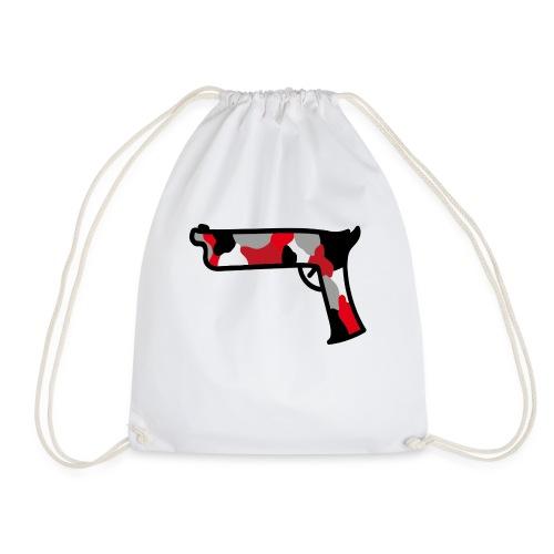 strijdR T-shirt pistol black - Gymtas