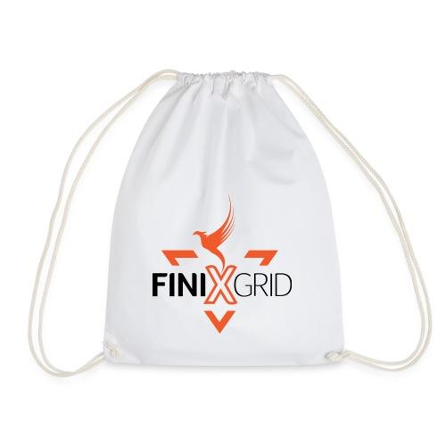 FinixGrid Orange - Drawstring Bag