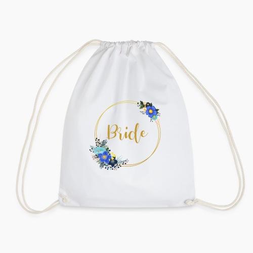 Bride - golden wreath / golden wreath - Drawstring Bag
