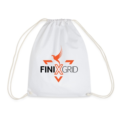 FinixGrid Orange - Drawstring Bag