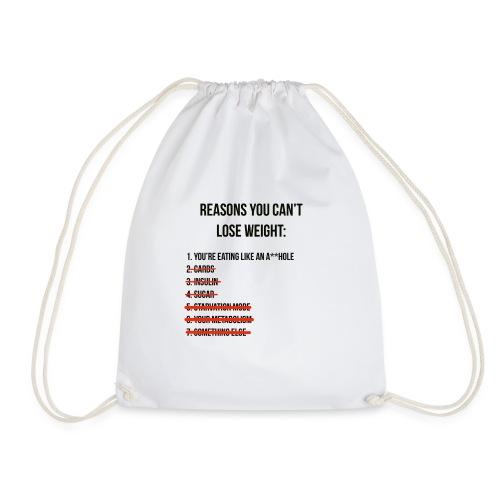 Losing weight - Drawstring Bag