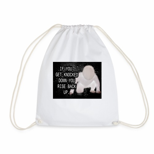 If you get Knocked down Quote - Drawstring Bag
