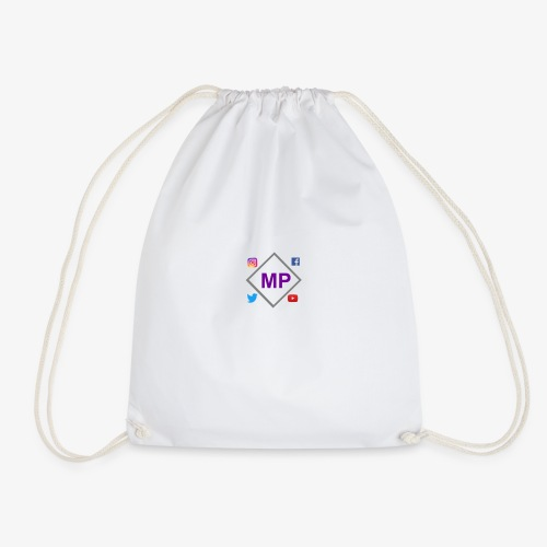 MP logo with social media icons - Drawstring Bag