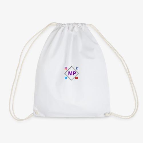 MP logo with social media icons - Drawstring Bag