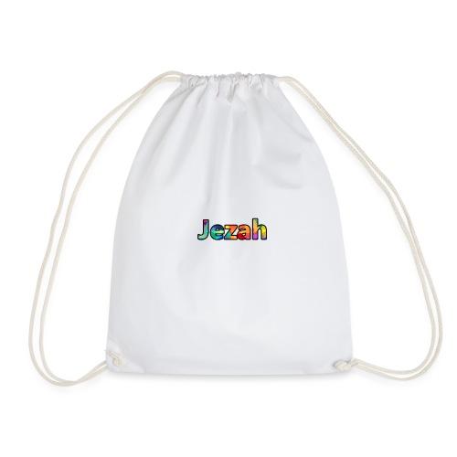 jezah merch text - Drawstring Bag