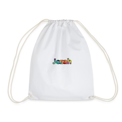 jezah merch text - Drawstring Bag