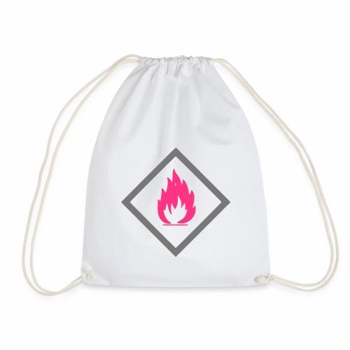 Achtung Brandgefahr / Feuer / leicht entzündlich - Turnbeutel
