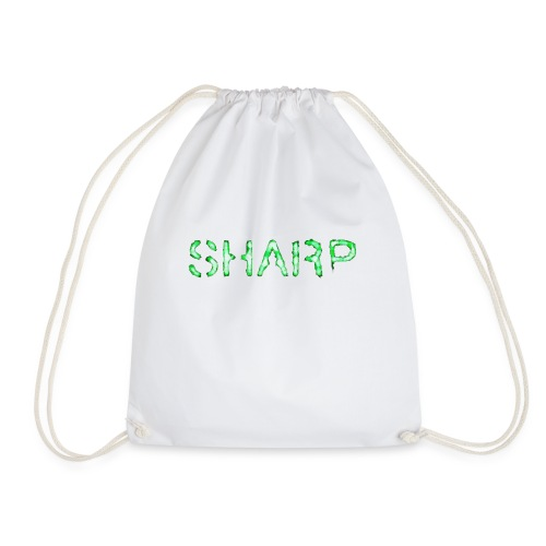 Sharp Clan black hoodie - Drawstring Bag