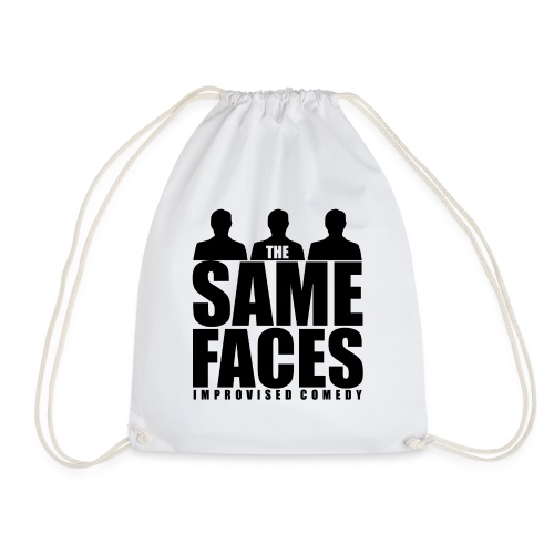 Same Faces Logo - Black - Drawstring Bag