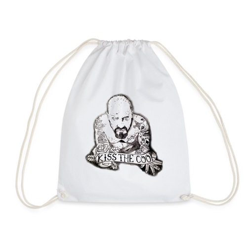 Kiss The Cook - Drawstring Bag