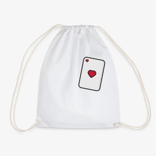 Hearts, Playing card - Drawstring Bag