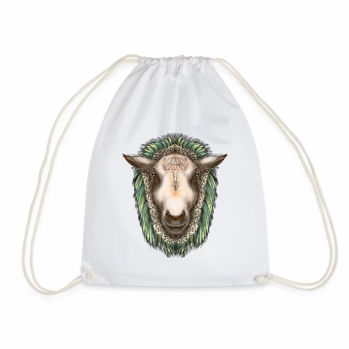 Zed The Sheep by Jon Ball - Drawstring Bag