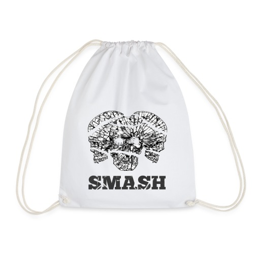 SKULL SMASHED - Drawstring Bag