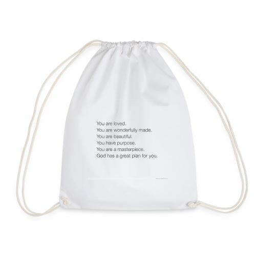 God has a plan for you - Drawstring Bag