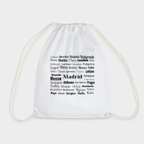 European capitals - Drawstring Bag