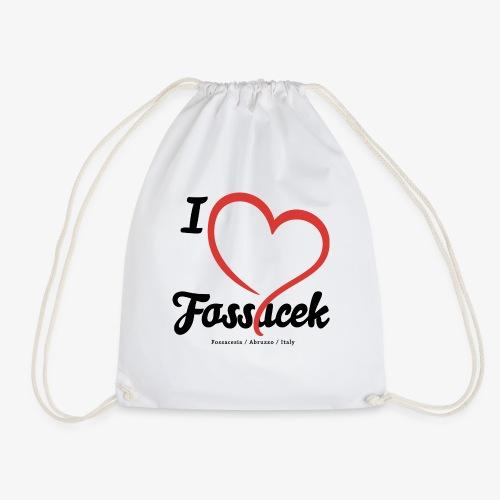 I Love Fossacek - Sacca sportiva
