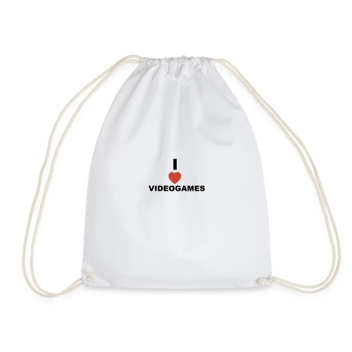 I Love Videogames - Drawstring Bag