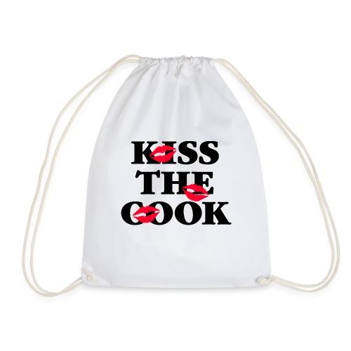 Kiss the Cook rote Lippen Kussmund Küchenchef heiß - Drawstring Bag