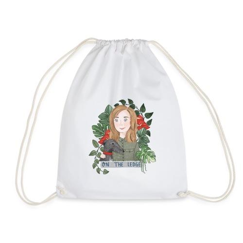 Jane and Wolfie - Drawstring Bag