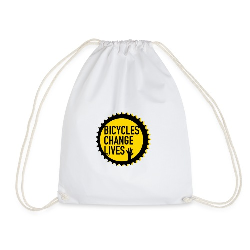 BCL Shirt Back White - Drawstring Bag