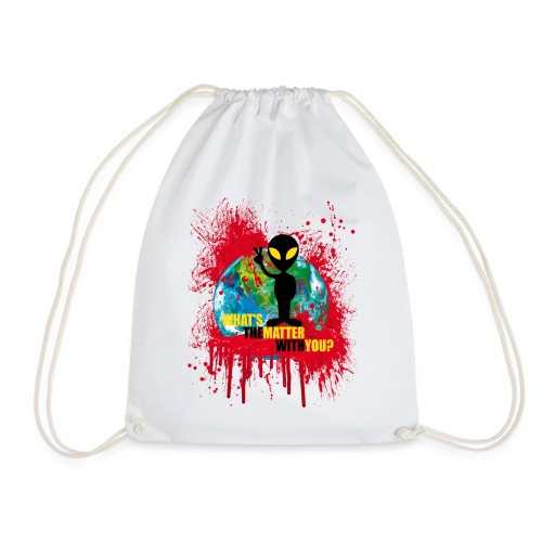 Wondering alien - Drawstring Bag