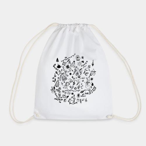 CHRISTMAS DOODLES - Drawstring Bag