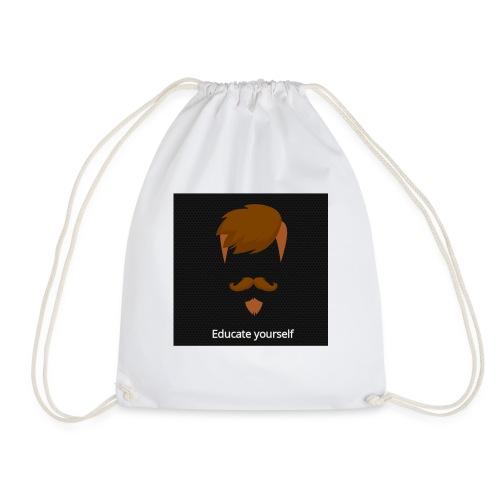 educate yourself - Drawstring Bag