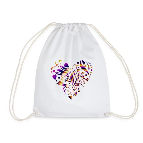 motif coeur multicolor - Sac de sport léger