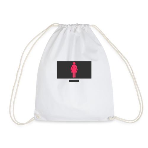 Woman On PC - Drawstring Bag