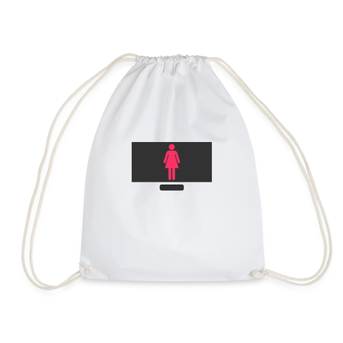 Woman On PC - Drawstring Bag
