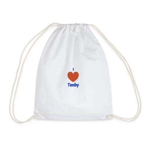 I love Tenby - Drawstring Bag