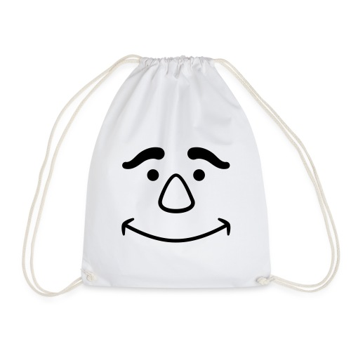 Satisfied Face - Drawstring Bag