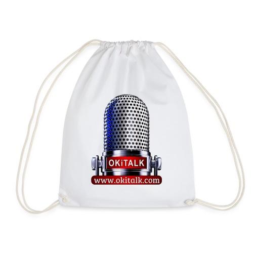 OKiTALK.com Logo - Mikrofon - Turnbeutel