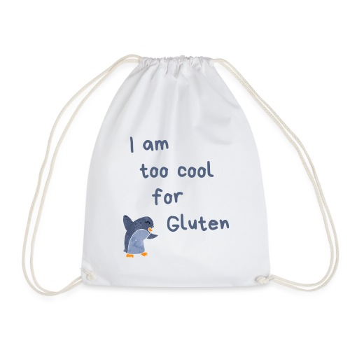 I am too cool for Gluten - Turnbeutel