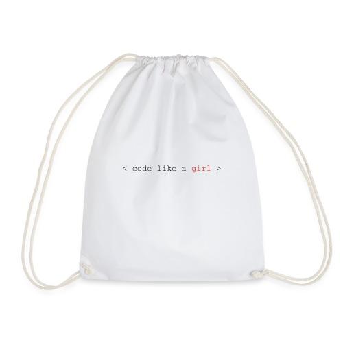 code like a girl - Drawstring Bag