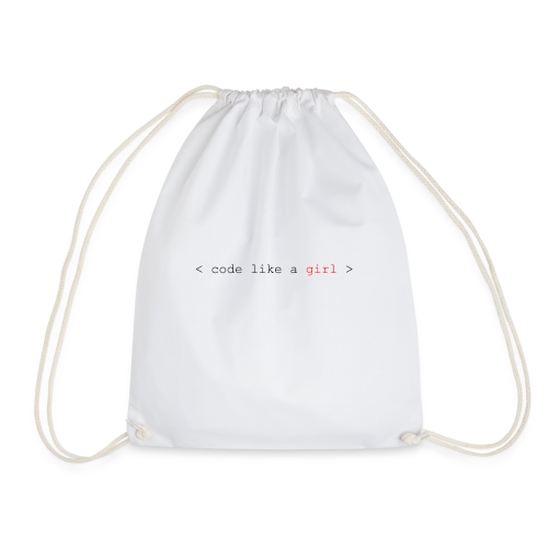 code like a girl - Drawstring Bag